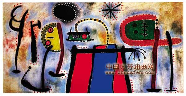 现代抽象画之外星人