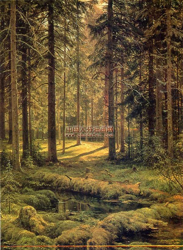 古典风景油画之森林