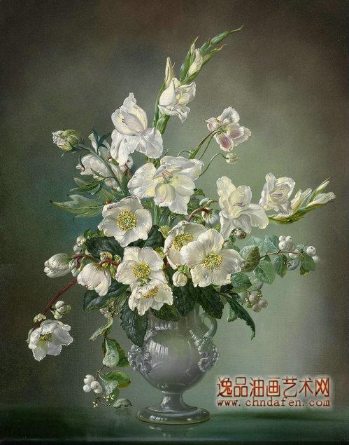 簡單油畫初學者臨摹花分享展示