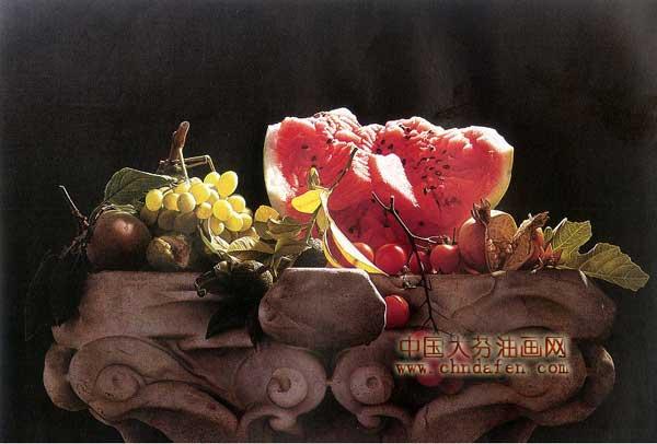 水果静物油画之西瓜