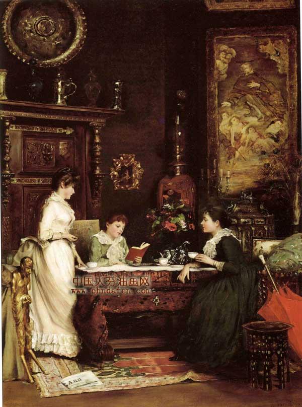 欧洲古典油画 宫廷 人物装饰画 中国大芬油画网 高清图片
