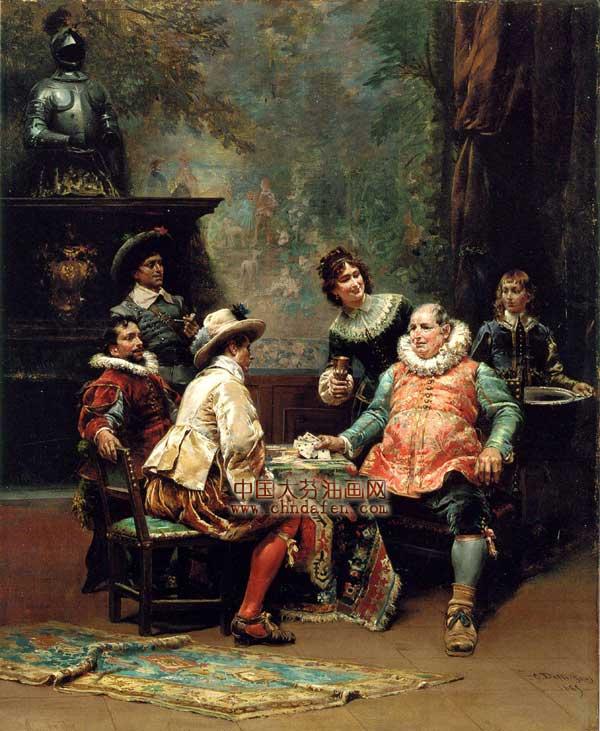 西方古典宫廷装饰画|宫廷|人物装饰画--逸品油画艺术