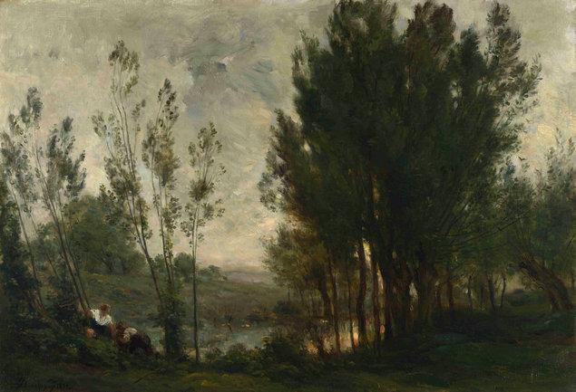 古典油画风景 俄罗斯风情