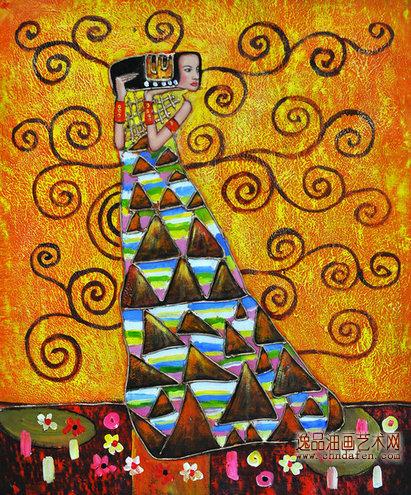 代人物装饰画 抽象人物画 人物油画作品欣赏 人物油画 逸品油画艺术网
