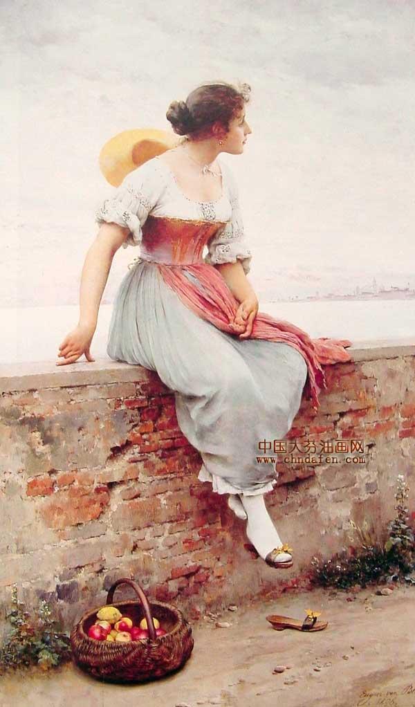 古典人物油画 高清图片