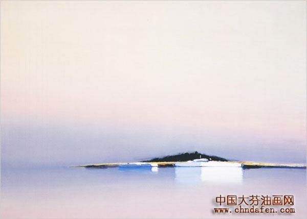 装饰油画图片之孤岛