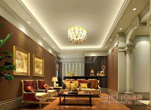 装饰画代理商 欧式风格客厅